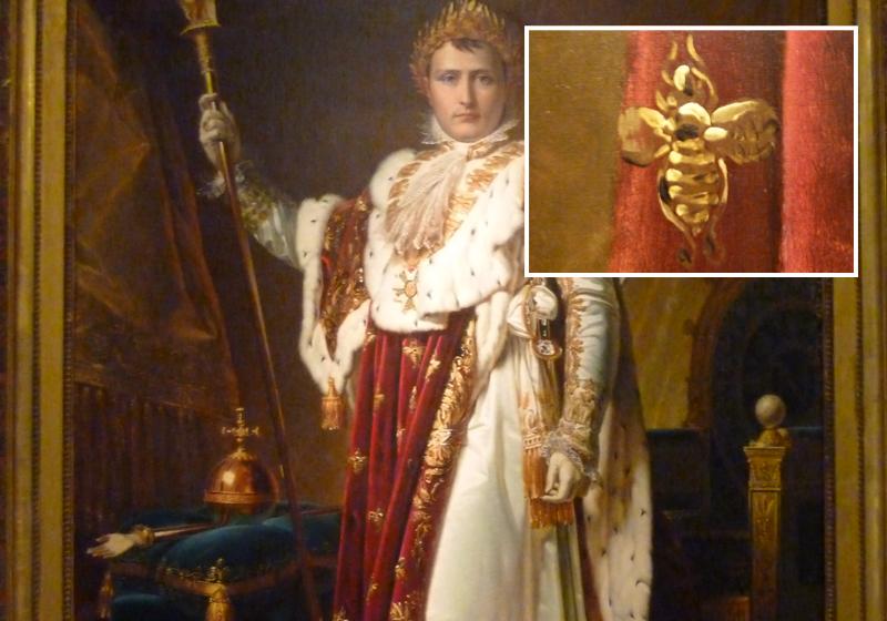 auf dem Krönungsmantel von Napoleon I.